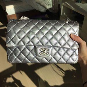Chanel Metallic Classic Medium Double flap